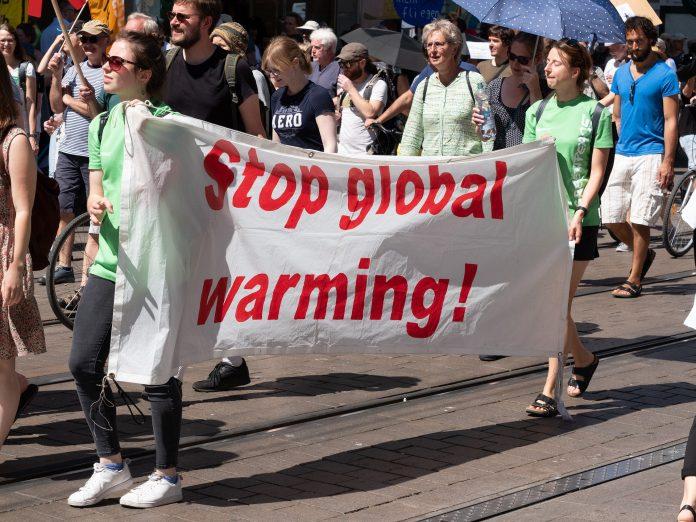 Manifestación en contra del calentamiento global
